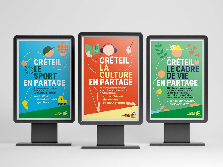 Conception graphique de la campagne Créteil.