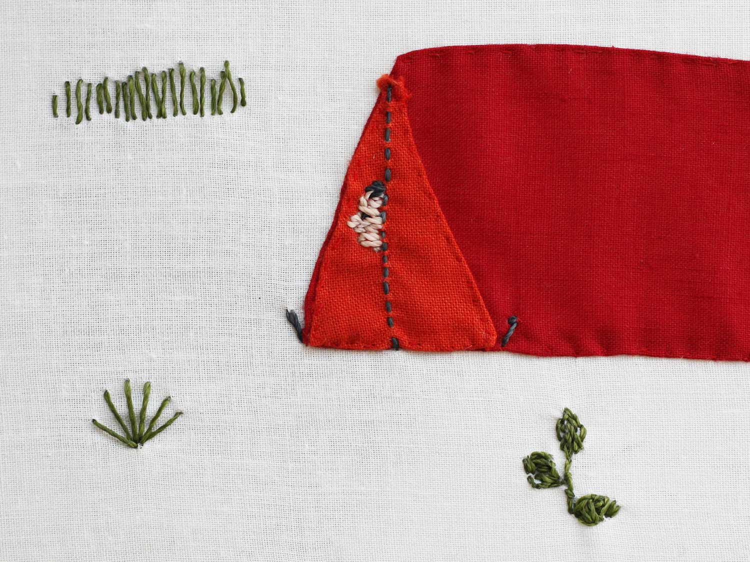 Broderie camping