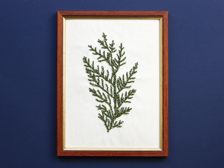 herbier brodé