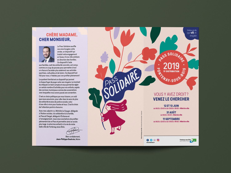 Pass solidaire 2019, dépliant