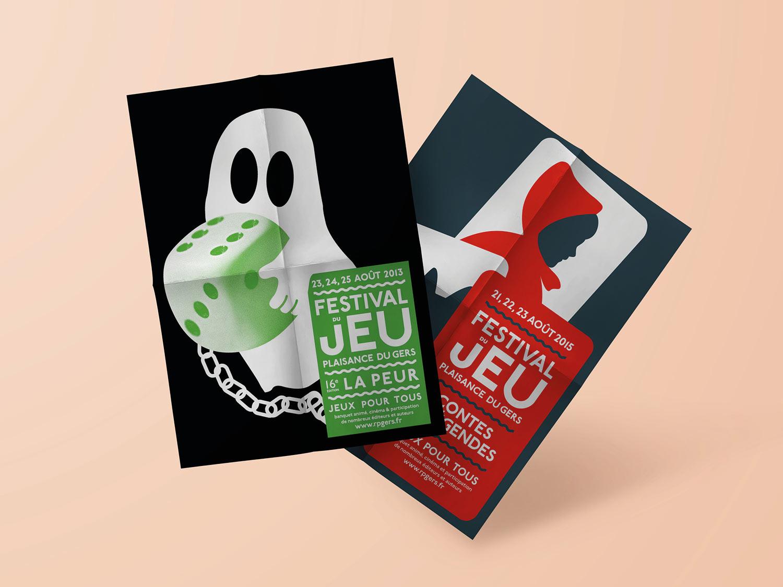 Création graphique des affiches Festival du jeu